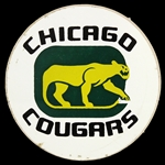 "1970s Chicago Cougars 3"" Logo Sticker"