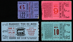 1960s-1970s Chicago Cougars Hockey Ticket Stubs (Lot of 4)
