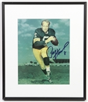 "1957-1966 Paul Hornung Green Bay Packers Signed 12""x 14"" Framed Photo (JSA)"