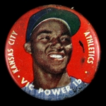 "1956 Vic Power Kansas City Athletics 1"" Topps Baseball Pinback Button"