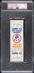 1976 New England Patriots vs. Tampa Bay Buccaneers Game 10 Full Ticket (PSA/DNA Slabbed)