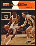 1971 Milwaukee Bucks vs. Cleveland Cavaliers NBA Basketball Program