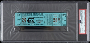 1974 Chicago Cougars vs Los Angeles Sharks WHA Full Ticket (PSA/DNA Slabbed)