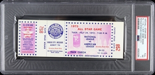 1973 National League vs American League Royals Stadium All-Star Game Full Ticket (PSA/DNA Slabbed)