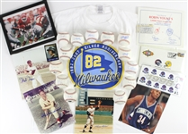 1990s-2000s Baseball Basketball Football Memorabilia Collection - Lot of 23 w/ Signed Baseballs, Signed Photos, First Day Envelopes & More (JSA)