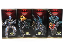 "1997 Batman & Robin MIB 12"" Action Figures - Lot of 4 w/ Batman, Robin, Batgirl & Mr. Freeze"