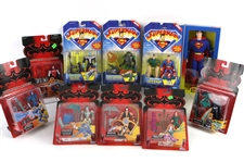 1996-97 Superman Batman & Robin MOC Action Figures - Lot of 12 w/ Superman, Lex Luthor, Bane, Batgirl, Mr. Freeze & More