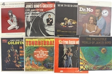 "1960s-70s James Bond 12"" Soundtrack Album Collection - Lot of 30 w/ Dr. No, From Russia With Love, Goldfinger, Thunderball & More"