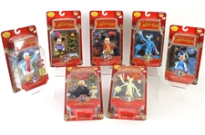 2003 Mickeys Christmas Carol MOC Action Figures - Lot of 8 w/ Mickey Mouse, Minnie Mouse, Scrooge McDuck, Glow in the Dark Goofy & More