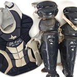 2010 Jonathan Lucroy Milwaukee Brewers Signed Game Worn Catchers Equipment w/ Shin Guards & Chest Protector (MEARS LOA/JSA)