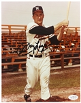 "1953-61 Johnny Logan Milwaukee Braves Signed 8""x 10"" Color Photo *JSA*"