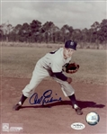 1948-58 Carl Erskine Brooklyn Dodgers Autographed 8x10 Color Photo *JSA*