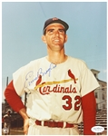 1959-64 Ernie Broglio St. Louis Cardinals Autographed 8x10 Color Photo *JSA*
