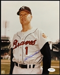 "1949-1963 Del Crandall Milwaukee Braves Signed 8""x 10"" Photo *JSA*"