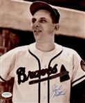 1953-56 Jack Dittmer Milwaukee Braves Autographed 8x10 Sepia Photo *JSA*