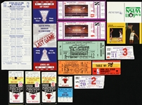 1970's-1990's NBA and College Basketball Tickets, Ticket Stubs, College Schedule and NBA All Star Voting Ballot (Lot of 14)
