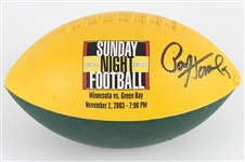 2003 Paul Hornung Green Bay Packers Signed Sunday Night Football Soft Promo Football (JSA)