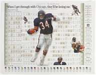 "1990s Walter Payton Michael Jordan Sammy Sosa Chicago Bears Bulls Cubs 22"" x 28"" Informational Posters - Lot of 3"