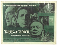 "1962 Edgar Allen Poes Tales of Terror 22"" x 28"" Half Sheet Movie Poster"
