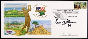 2000 Gene Littler Signed 100th US Open First Day Cover (PSA/DNA)