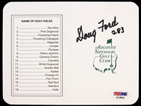 2000s Doug Ford Signed August National Golf Club Scorecard (PSA/DNA)