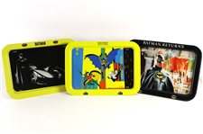 1989-93 Batman TV Tray Collection - Lot of 3 w/ Batman, Batman Returns & Animated Series