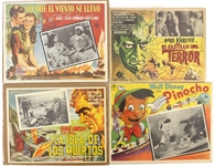 1940s-60s Spanish Language Movie Poster Collection - Lot of 5 w/ Pinocchio, Gone With The Wind, Boris Karloff & More