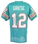 1967-1980 Bob Griese Miami Dolphins Autographed Jersey (Tristar)