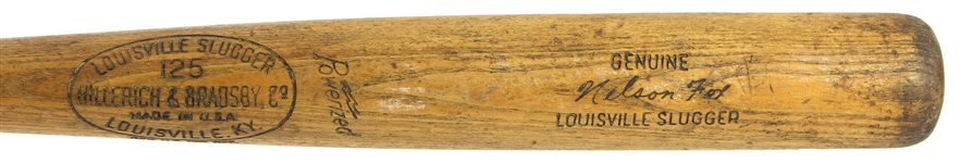 1961-64 Nelson Fox White Sox/Colt .45s H&B Louisville Slugger Professional Model Game Used Bat (MEARS A6)