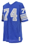 1975-77 Larry Hand Detroit Lions Signed Home Jersey (MEARS LOA)