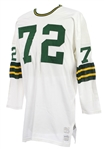 1973-77 Dick Himes Green Bay Packers Game Worn Road Jersey (MEARS A9)
