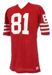 1982-85 Russ Francis San Francisco 49ers Game Worn Home Jersey (MEARS LOA)