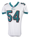 2003 Zach Thomas Miami Dolphins Game Worn Road Jersey (MEARS LOA)