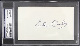 1950s Ezzard Charles Heavyweight Champion Signed 3x5 Index Card (PSA/DNA Slabbed)