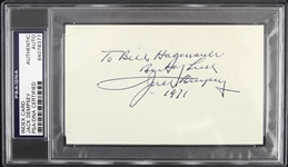 1971 Jack Dempsey Heavyweight Champion Signed 3x5 Index Card (PSA/DNA Slabbed)