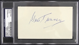 1970s Gene Tunney Heavyweight Champion Signed 3x5 Index Card (PSA/DNA Slabbed)