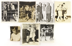 1940s Primo Canero Heavy Weight Champion Original Boxing Photo (Lot of 7)