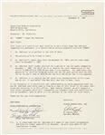 "1967 Sugar Ray Robinson Signed 8.5""x11"" Contract (JSA)"