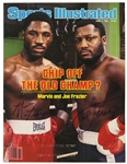 1981 Marvis Joe Frazier Signed Sports Illustrated Cover Only (JSA)