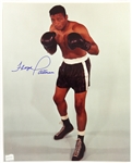 1980s Floyd Patterson Heavyweight Champion Signed 8x10 Color Photo (JSA)