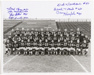 1957 circa Green Bay Packers Signed 8x10 B&W Signed Photo (8 autos) JSA
