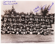 1967 Green Bay Packers Team Signed 8x10 B&W Photo (22 Autographs) JSA