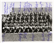1960s Green Bay Packers Team Signed 8x10 B&W Photo (21 Autographs) JSA