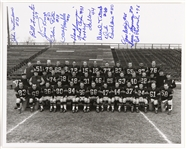 1950s Green Bay Packers Team Signed 8x10 B&W Photo (13 Autographs) JSA