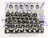 1962 Green Bay Packers Signed 8x10 B&W Photo (12 Autos) JSA