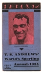 1934 TS Andrews World Sporting Annual w/ Primo Carnera Cover