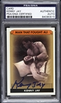 "1970s Kenny Jay ""The Man That Fought Ali"" Signed Trading Card (PSA/DNA Slabbed)"