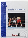"1997 Muhammad Ali Quando Eravamo Re (When We Were Kings) Italian Language 39"" x 55"" Oversize Movie Poster"