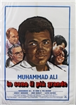 "1977 Muhammad Ali Io Sono Il Piu Grande (The Greatest) Italian Language 39"" x 55"" Oversize Movie Poster"