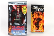 1991-97 Arnold Schwarzenegger Terminator 2 MIB Action Figures - Lot of 2